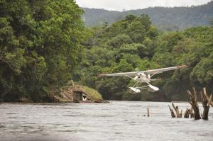 Photos used for the 2014 MAF US Calendar. a river landing.