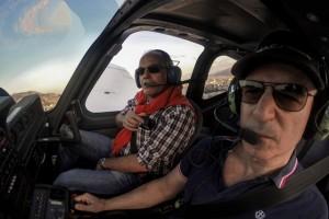 Bryan Pill Pilota Maf ed io sorvolo su Palermo